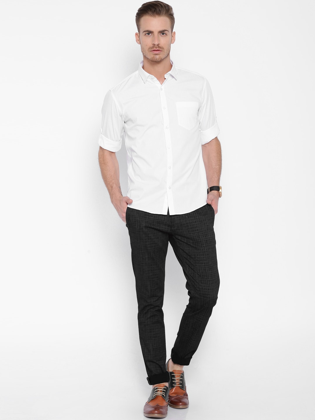 Awe Inspiring Shirts For Men Buy Casual Shirts For Men Online In India Hairstyles For Women Draintrainus