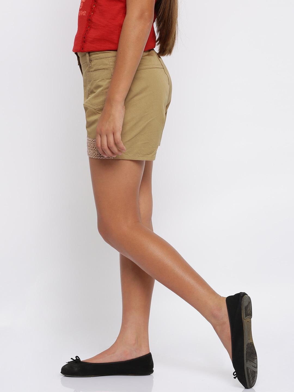 Girls Khaki Shorts - Buy Girls Khaki Shorts online in India