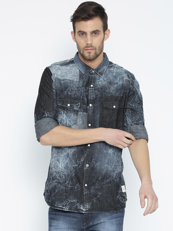 c9adb121c6b Denim Shirts - Buy Denim Shirts for Men Online in India