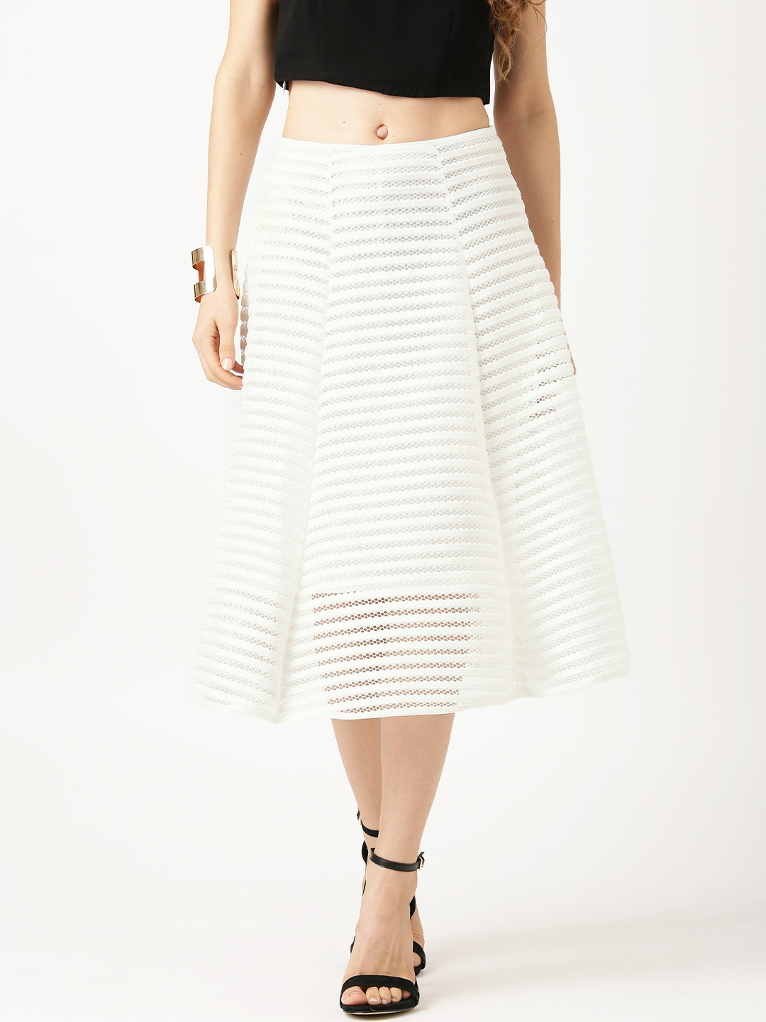 Buy QUIZ Navy Patterned A Line Skirt - Skirts for Women | Myntra