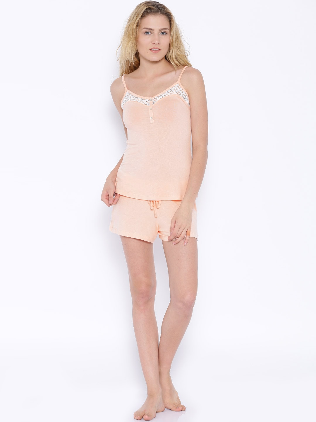 Slumber Jill Peach-Coloured Lounge Set FWSJ606