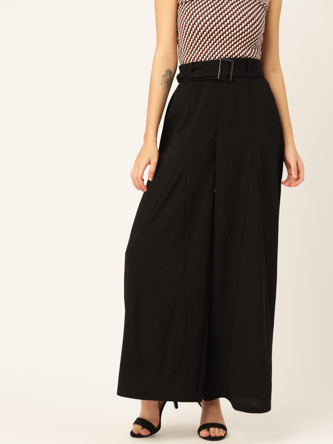 DressBerry Women Black Solid Parallel Trousers