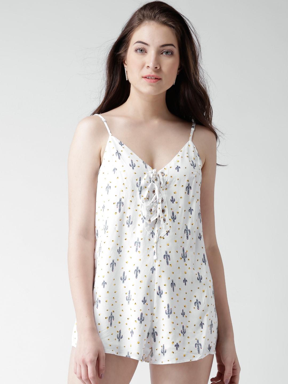 f920c0b54753 V Neck White Jumpsuit - Buy V Neck White Jumpsuit online in India