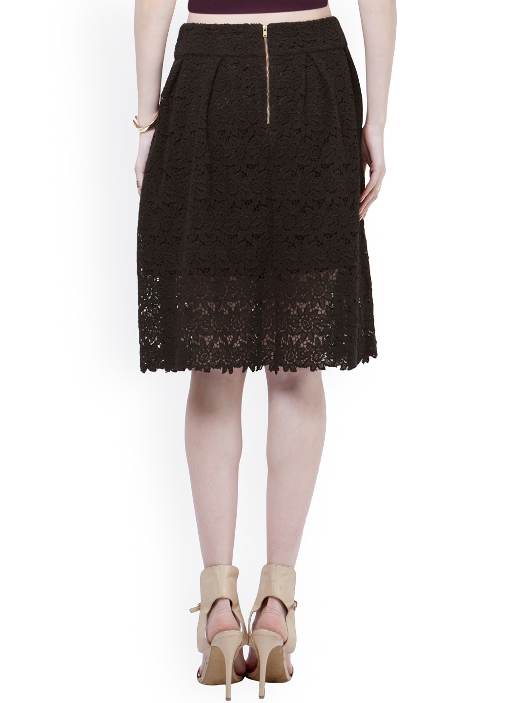 Buy FabAlley Black Lace A Line Skirt - Skirts for Women | Myntra