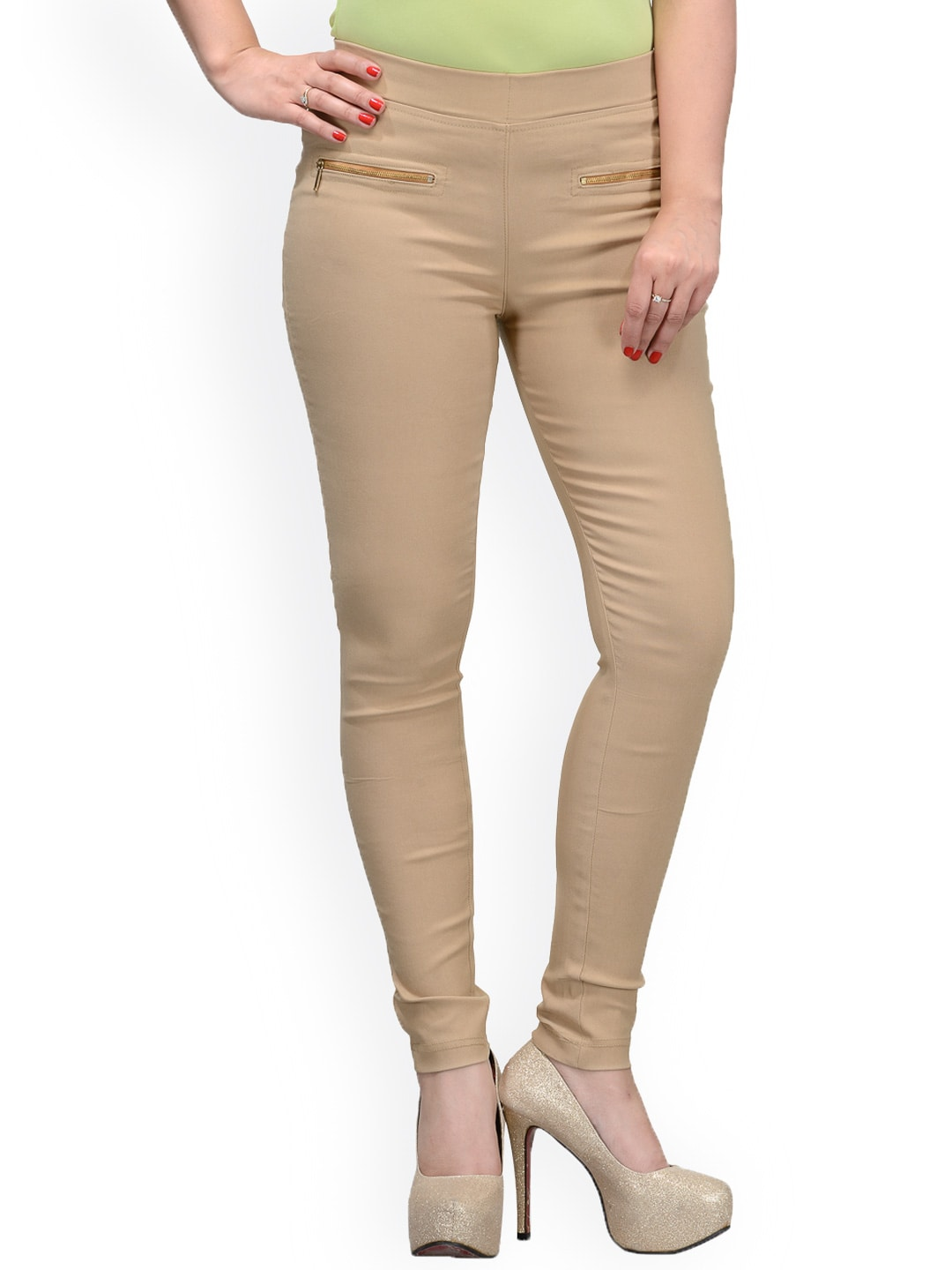 Tulsattva Nude-Coloured Slim Jeggings