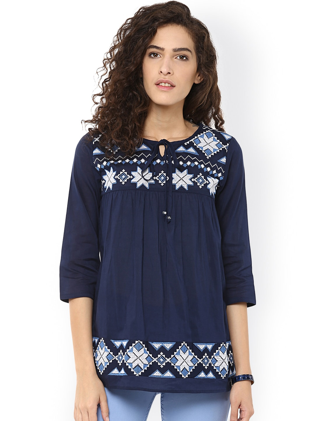 Women Blue Tops - Buy Women Blue Tops online in India