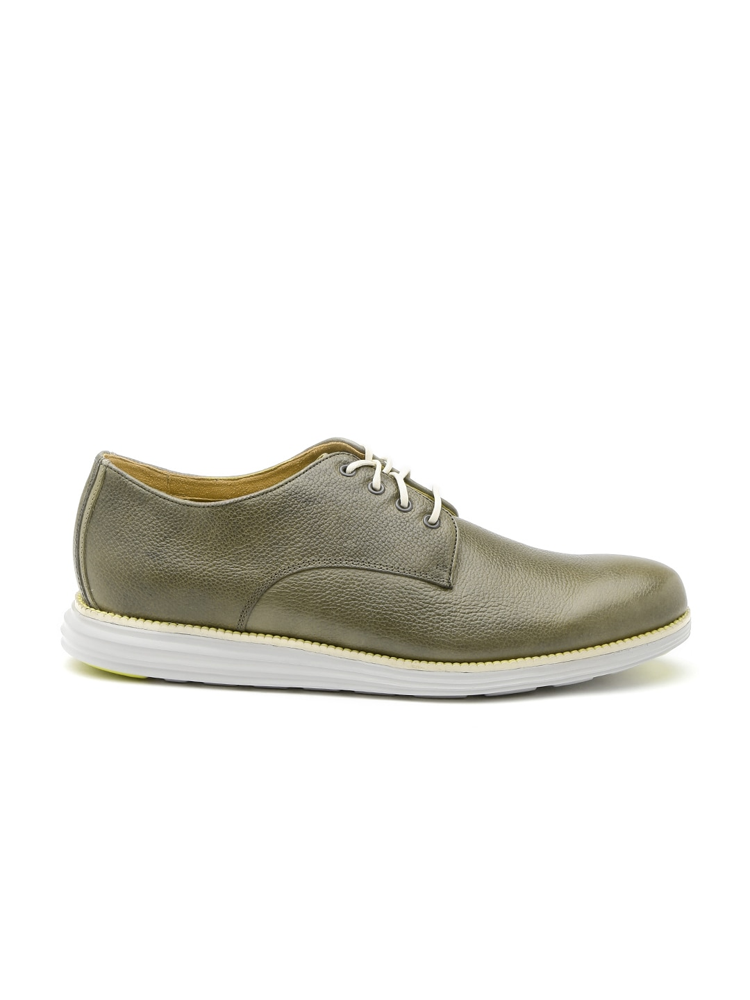 buy cole haan olive green leather casual shoes