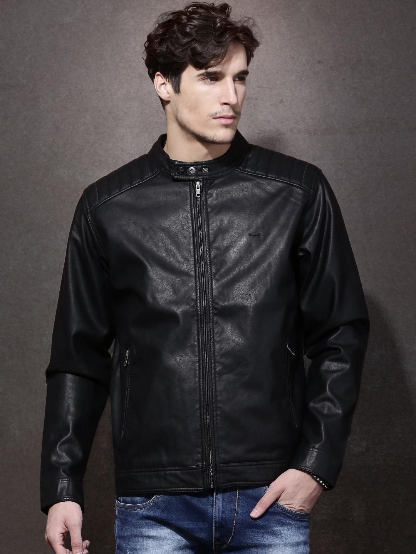 850128312 Roadster Black Biker Jacket