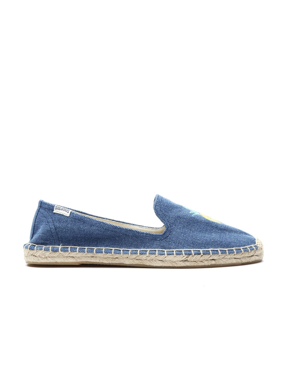 Soludos Women Blue Embroidered Espadrilles