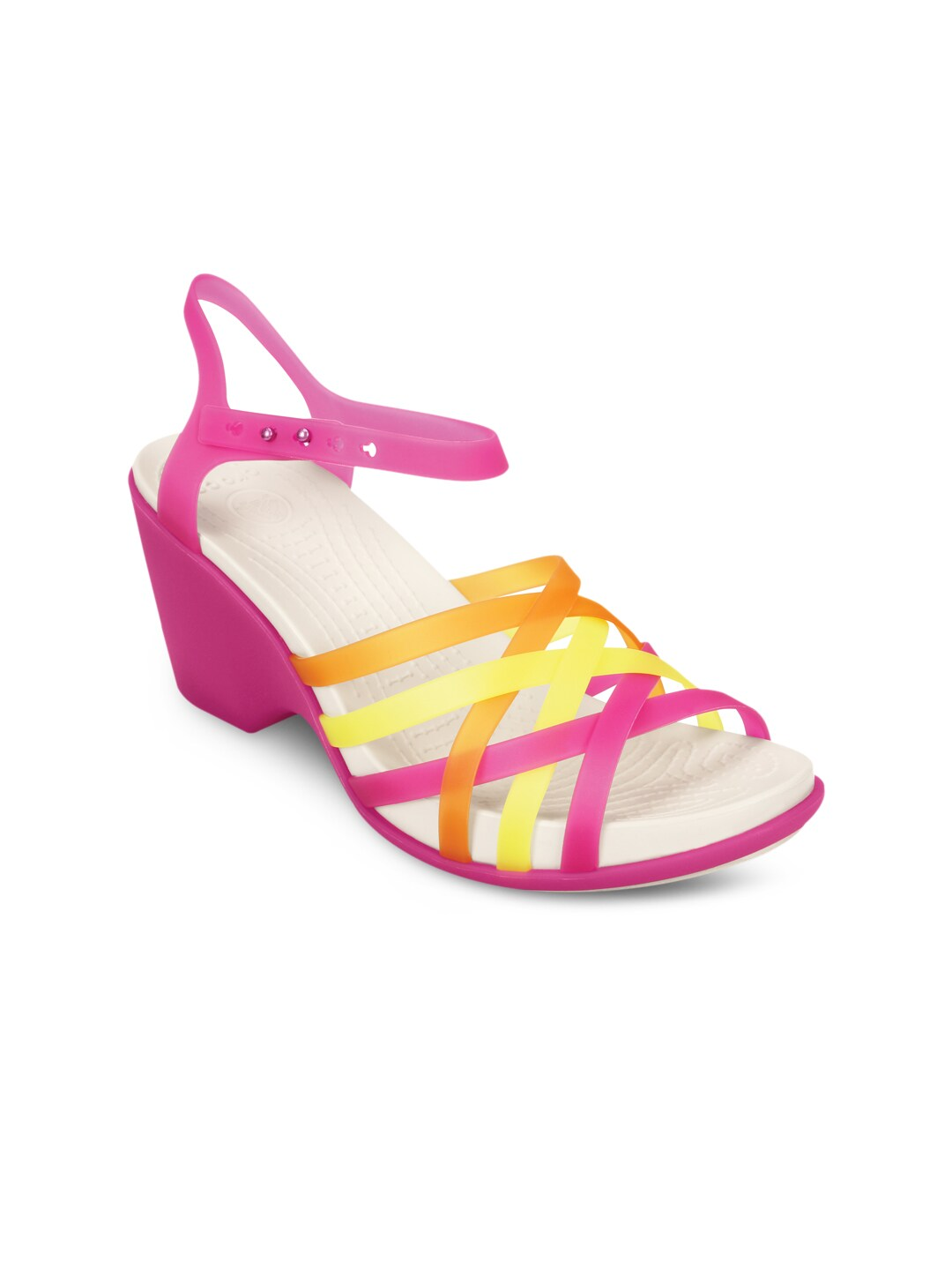 Pink And Yellow Heels