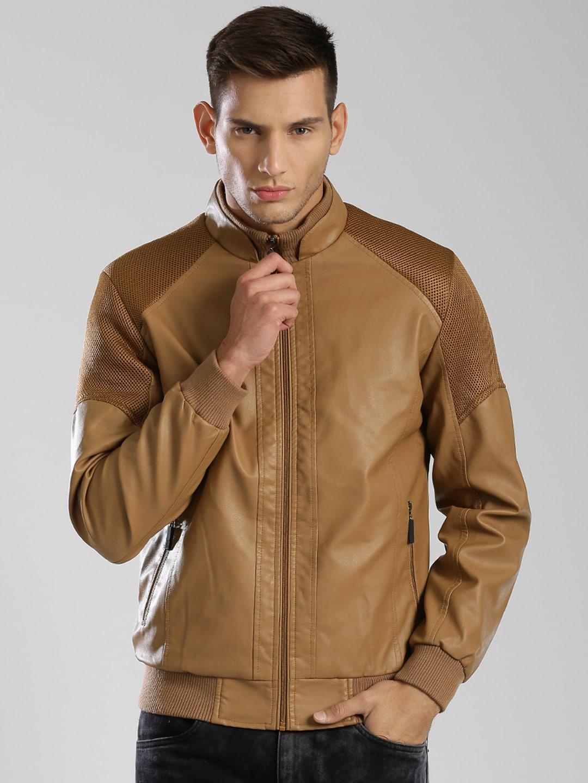 Olive Faux Leather Jacket - Jacket