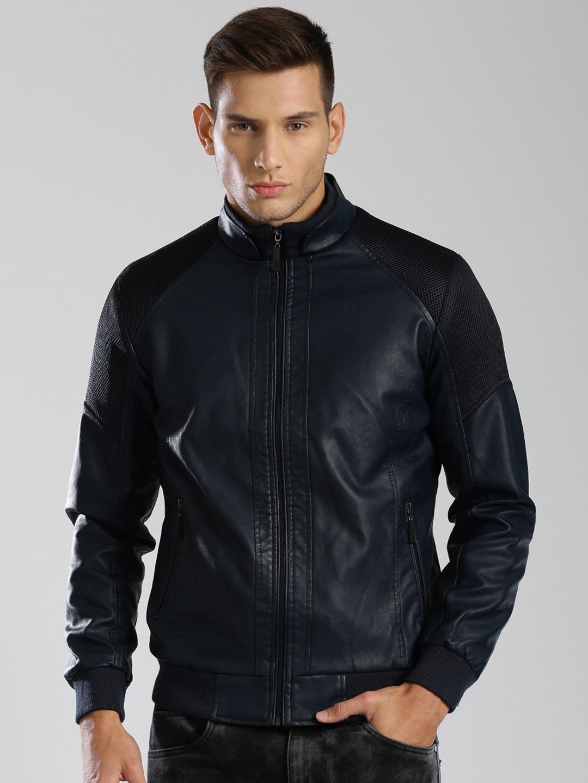 Buy HRX By Hrithik Roshan Black Faux Leather Bomber Jacket