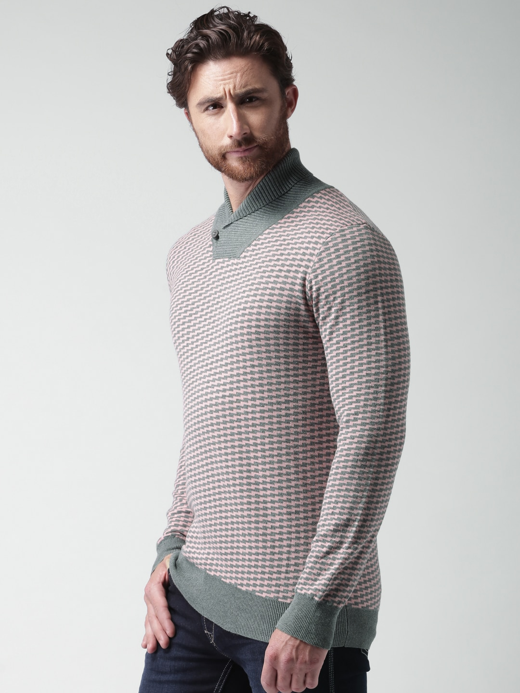 Men Pink Sweater - Buy Men Pink Sweater online in India