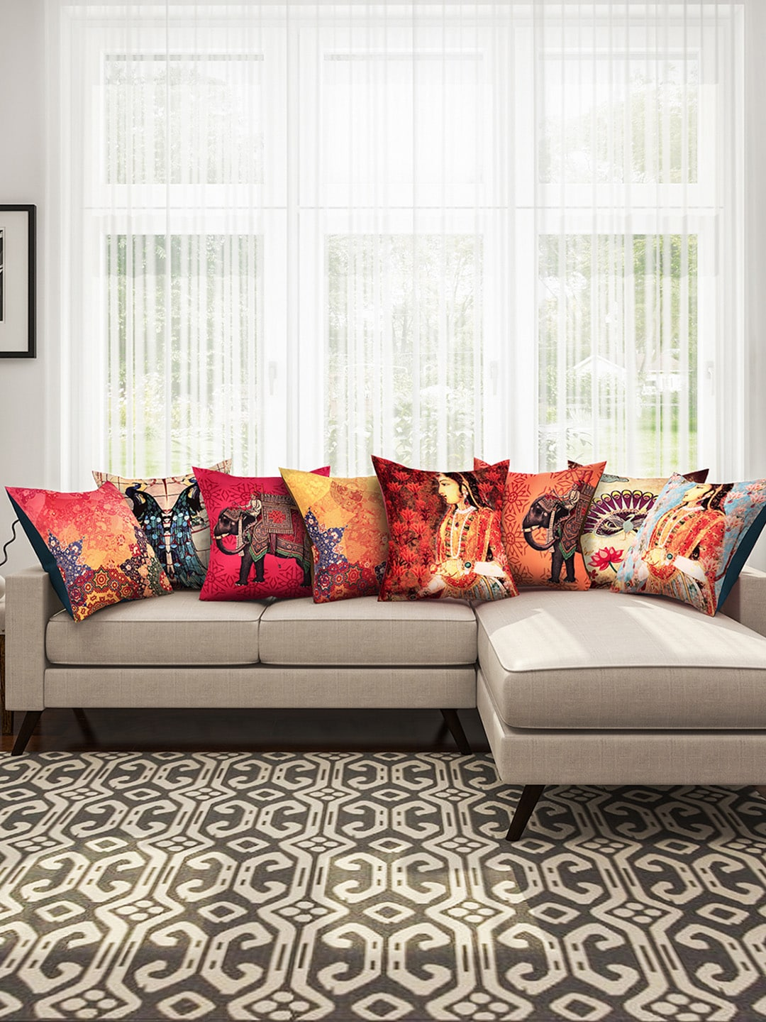 Genial Cushion Covers   Buy Cushion Covers Online In India | Myntra