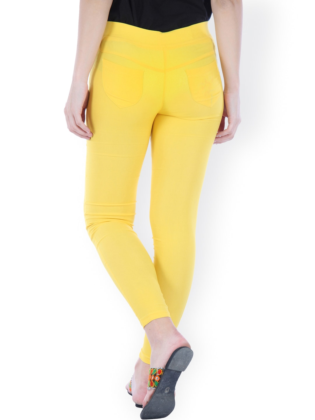 Bitterlime Yellow Skinny Fit Jeggings