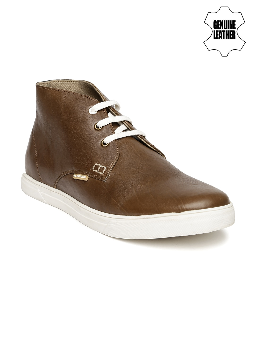 buy u s polo assn brown leather casual shoes