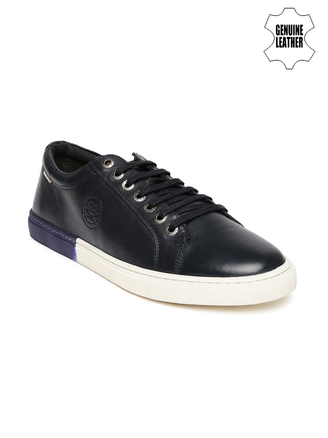 buy u s polo assn blue leather casual shoes