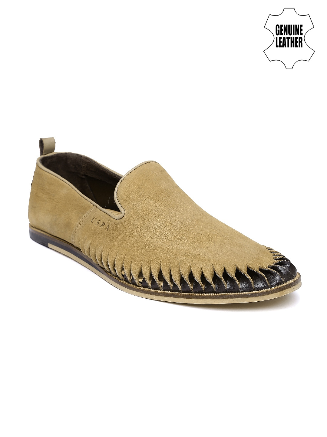 buy u s polo assn brown leather loafers footwear