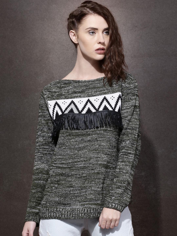 Olive Green Sweaters - Buy Olive Green Sweaters online in India