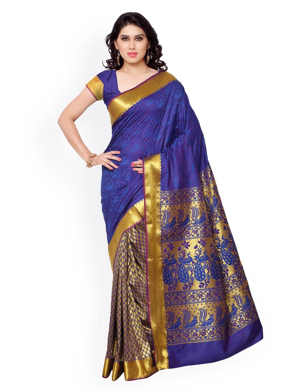 Varkala Silk Sarees Blue Paithani Silk & Jacquard Traditional Saree