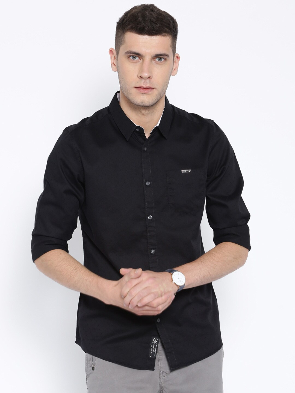 Buy Being Human Clothing Black Slim Casual Shirt Apparel