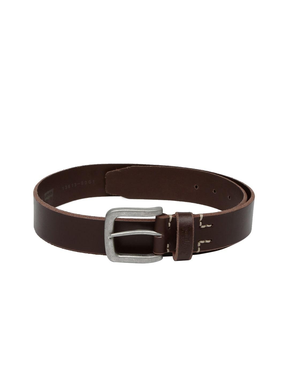 Levi's Men Brown Leather Belt