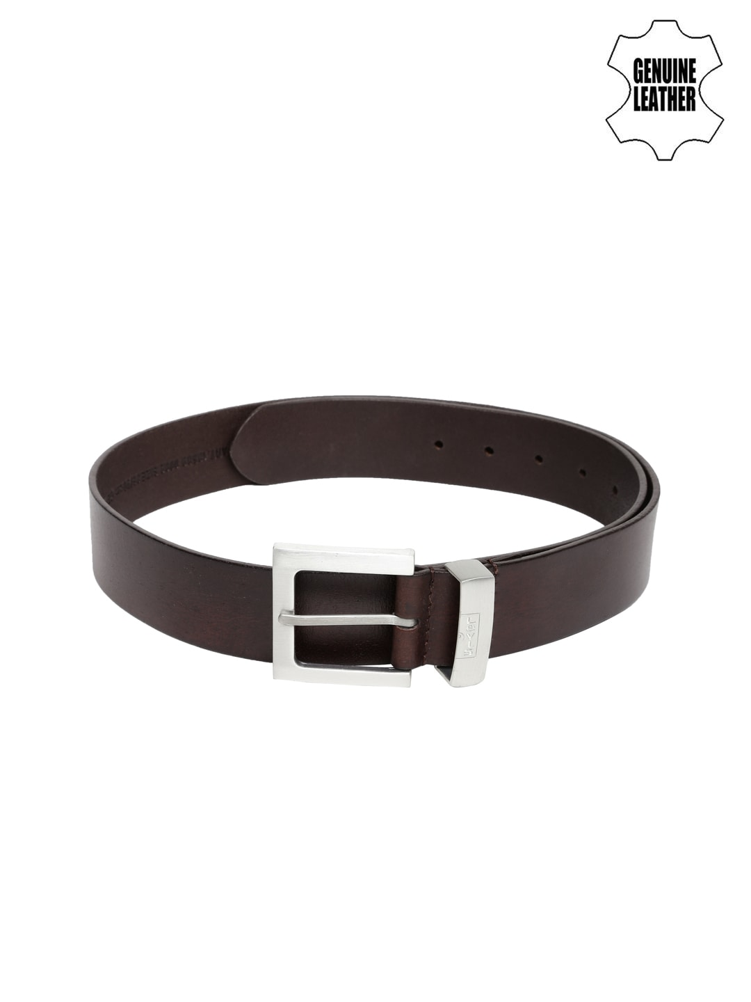 Levi's Men Dark Brown Leather Belt