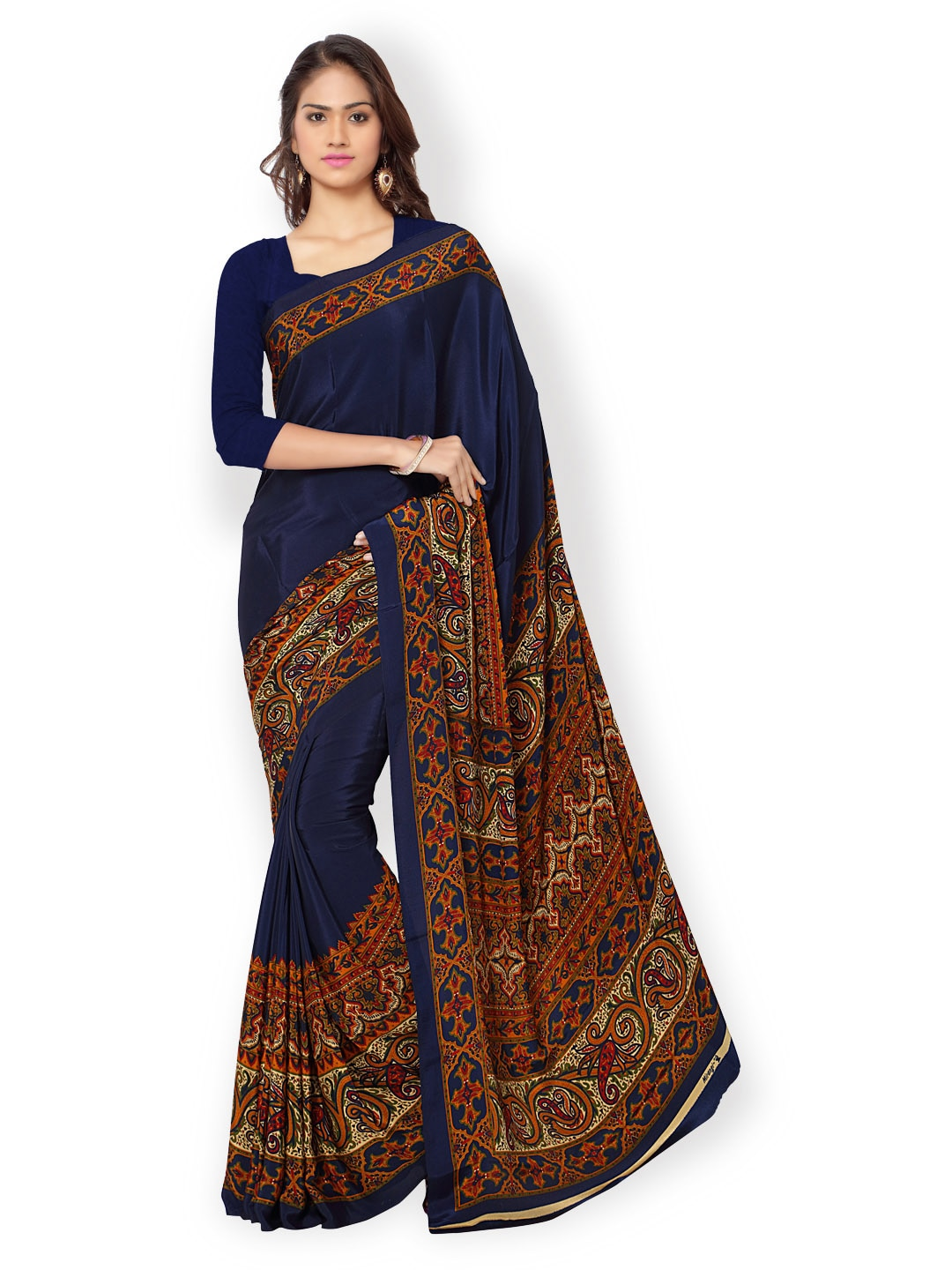 5bff67994fb6 Dungarees Printed Sarees - Buy Dungarees Printed Sarees online in India