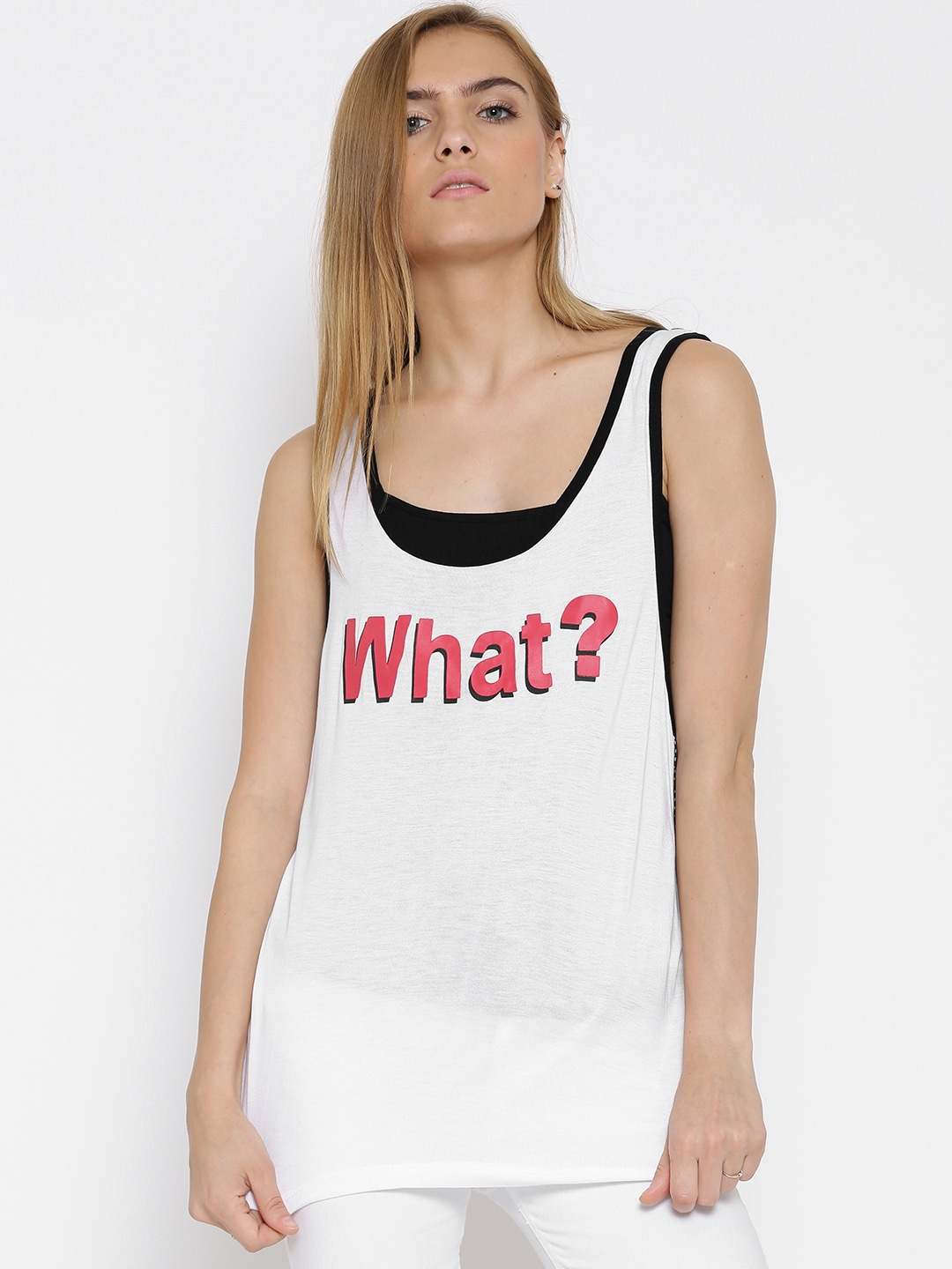 e85fc126a94686 White Tank Top - Buy White Tank Top online in India