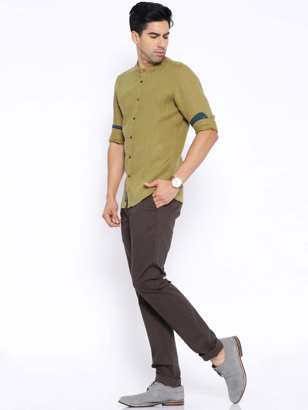 Brilliant Linen Shirts Buy Linen Shirts For Men Online In India Myntra Hairstyles For Men Maxibearus