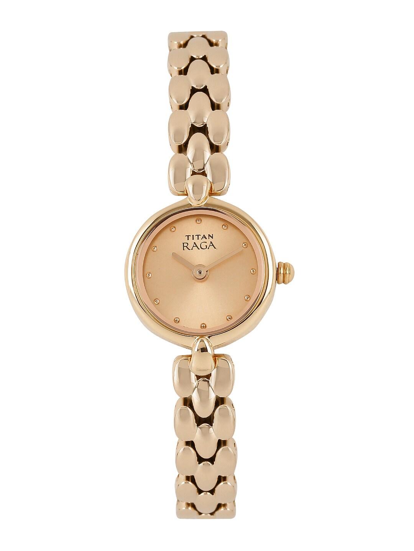 Titan Raga Women Rose Gold Toned Dial Watch Nh2444wm03
