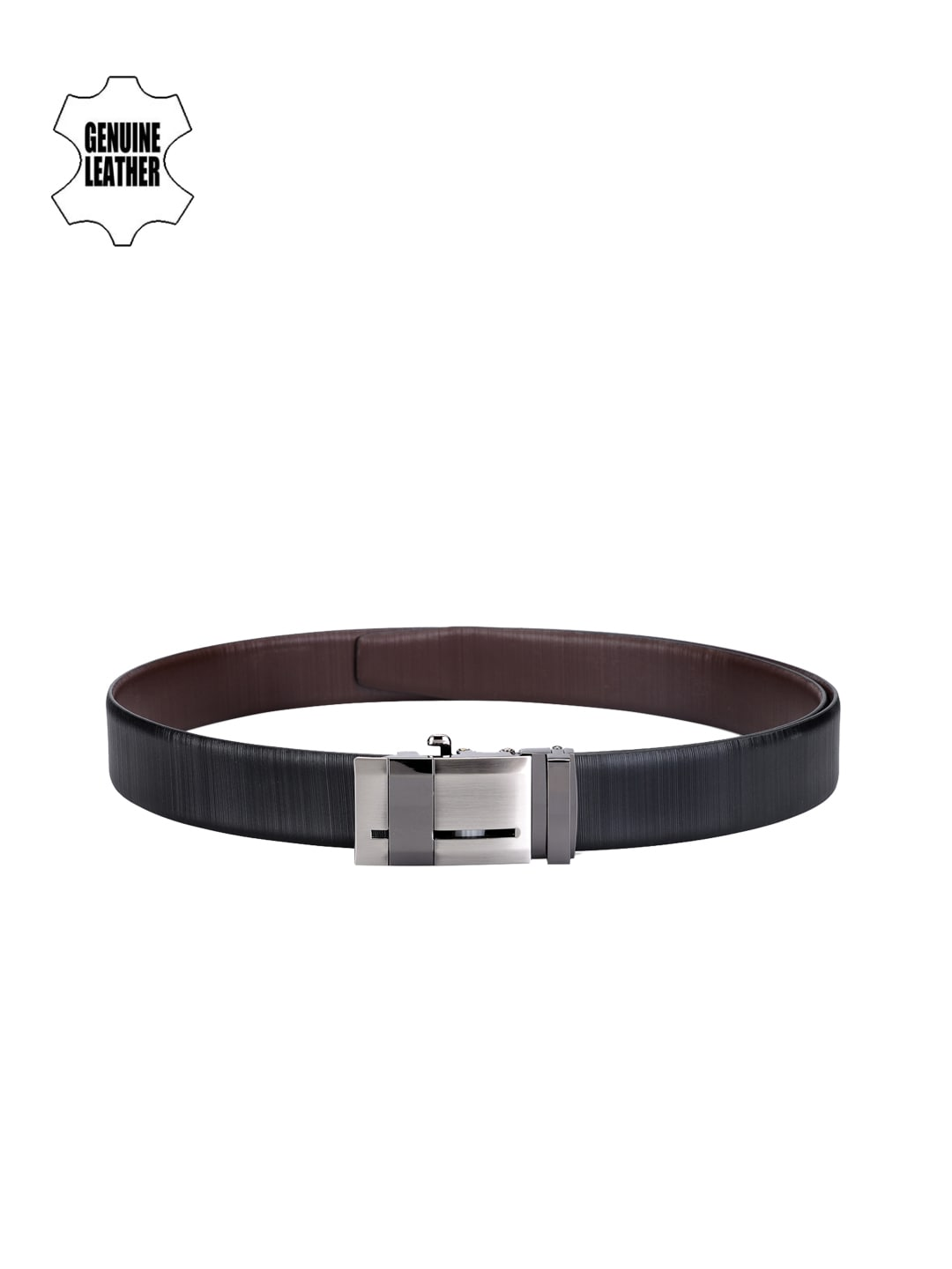 TWKD Leathers Men Black Genuine Leather Belt