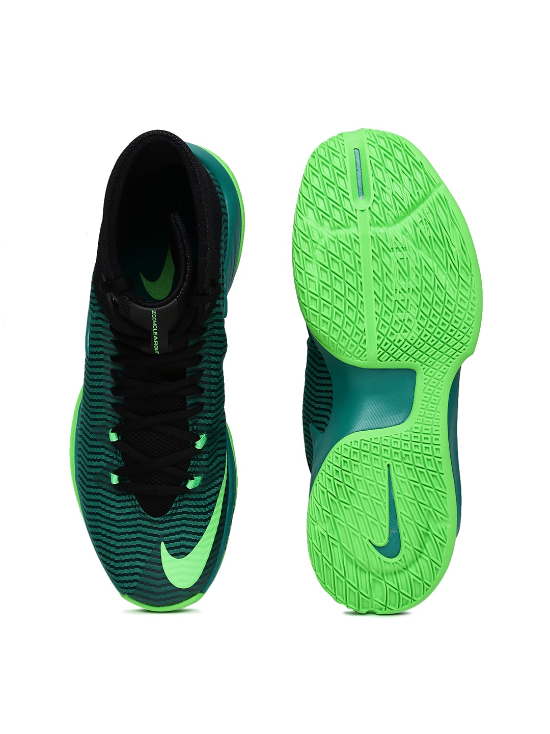 nike zoom clear out green pink