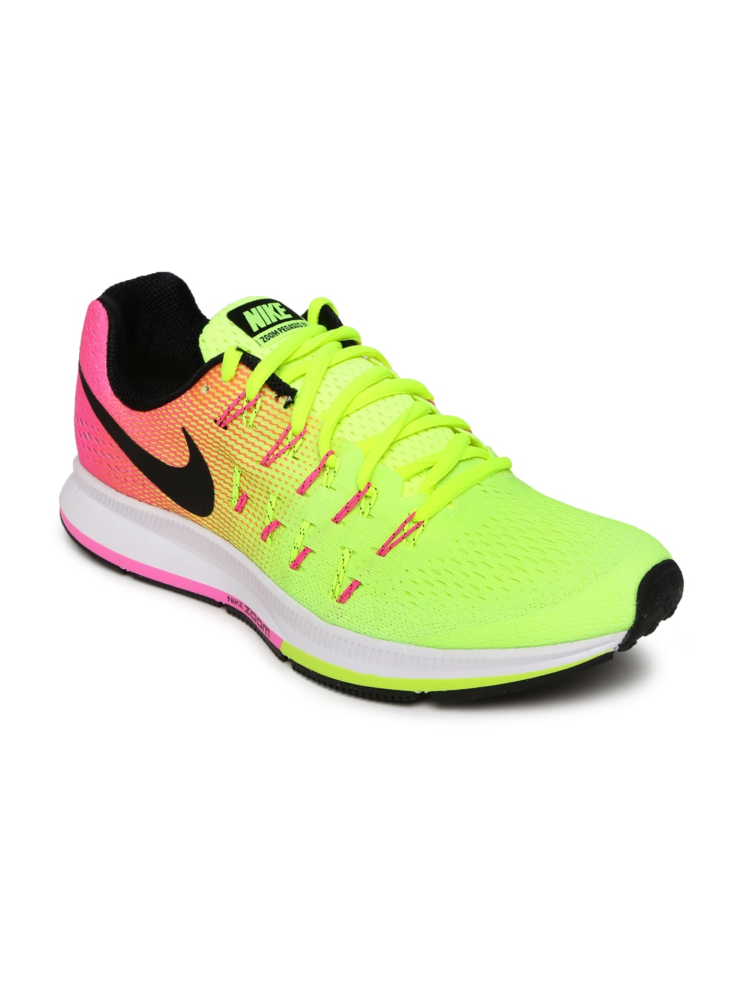 new styles 4a2fe 81255 11469173771717-Nike-Men-Fluorescent-Green--Pink-AIR -ZOOM-PEGASUS-33-OC-Running-Shoes-7881469173771458-1.jpg