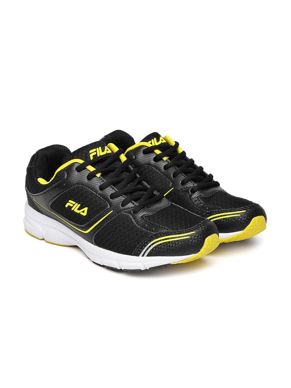 a6c90aa992 FILA Men Black RUN FAST PLUS 4 Running Shoes