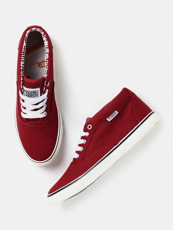 buy kook n keech maroon canvas shoes casual shoes