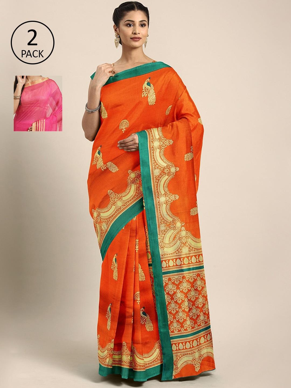 KALINI Multicolored Striped Saree