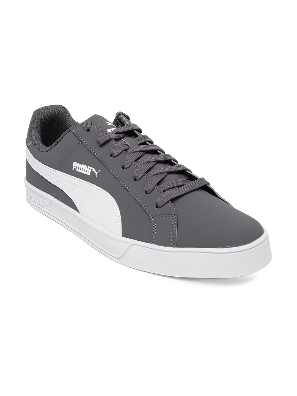 competitive price 1743d 167ab PUMA Men Charcoal Grey Smash Vulc Sneakers