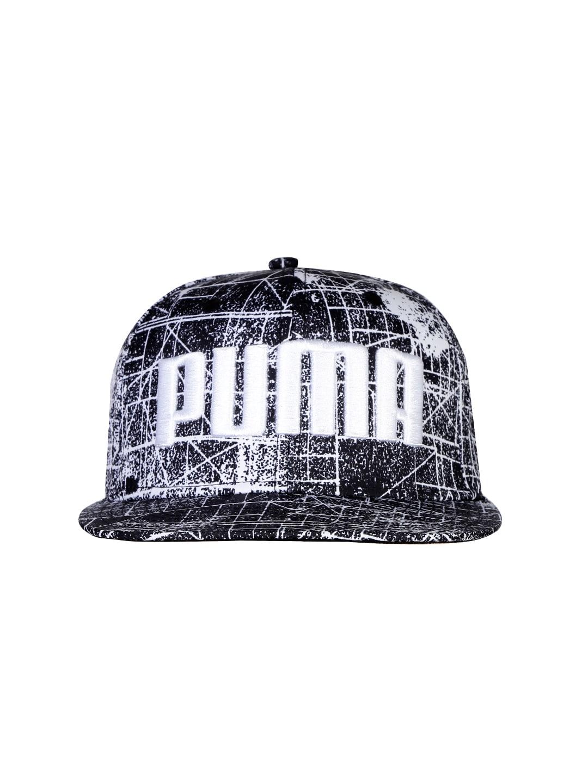 PUMA Unisex Black & White Printed Cap