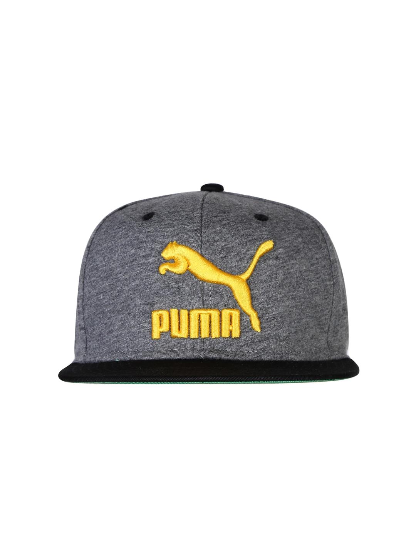 PUMA Unisex Grey & Black Cap