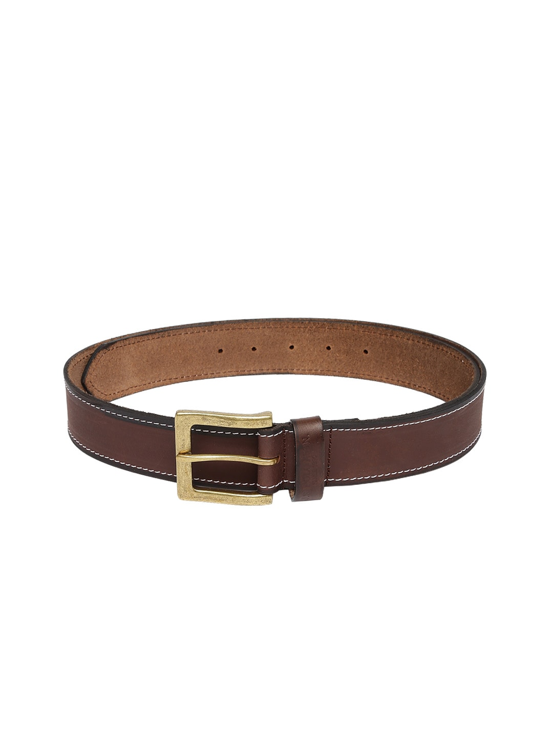 U.S. Polo Assn. Men Brown Leather Belt