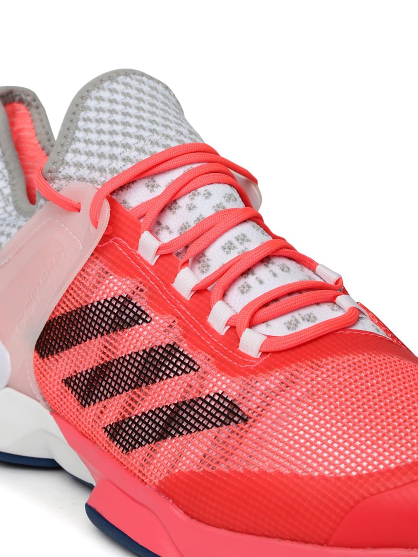Buy Adidas Men Pink & White ADIZERO UBERSONIC 2 Tennis Shoes ...