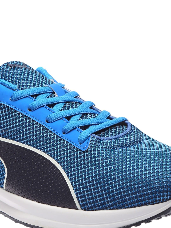 brand new e9836 9fd77 ... puma mesh surface blue black .. ...