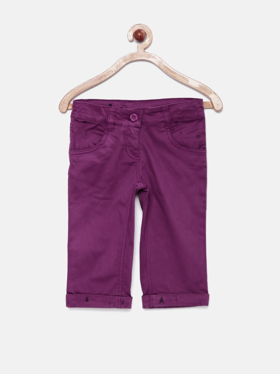 UFO Girls Purple Capris
