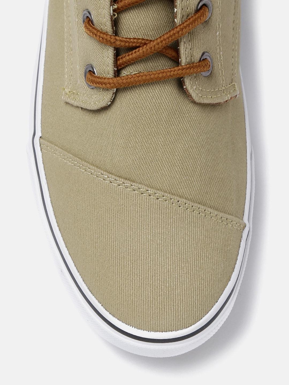 Kook N Keech Men Khaki Solid Sneakers