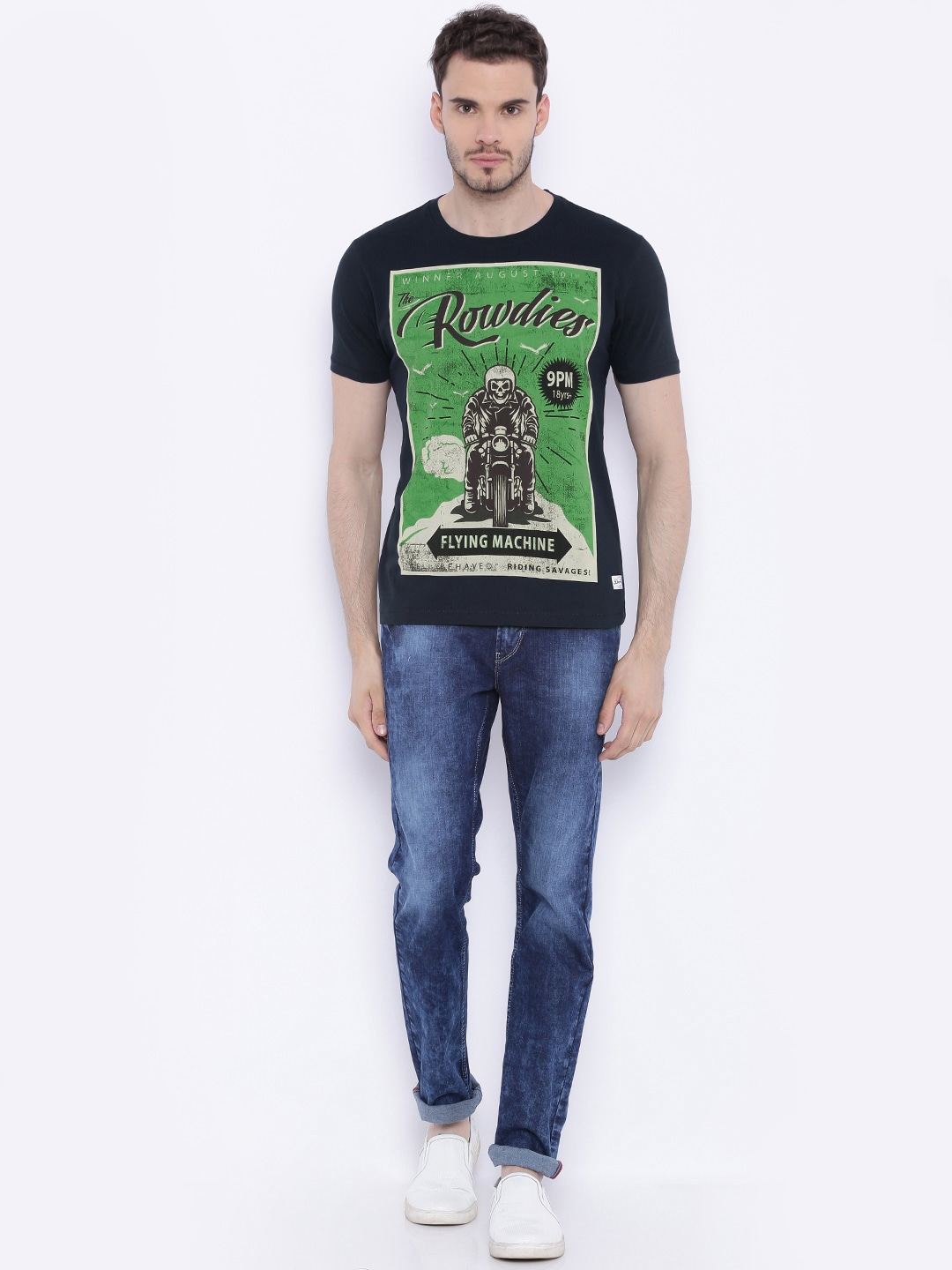 Black t shirt blue jeans - Flying Machine T Shirts Buy Flying Machine T Shirts For Men Women Online In India At Best Price
