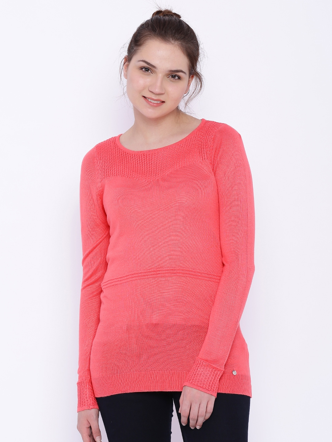 Deal Jeans Women Pink Top