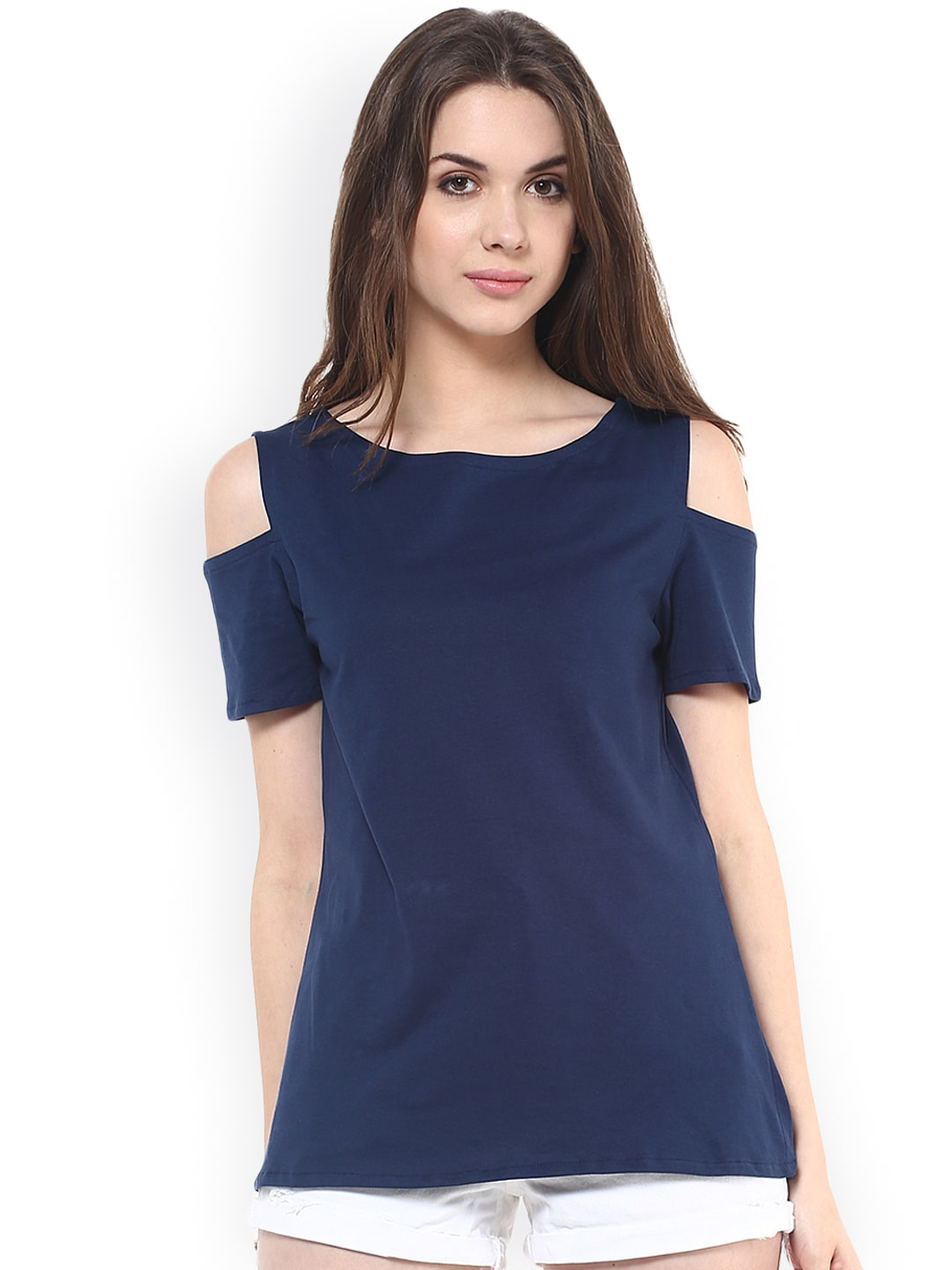 33bcad3815f Cut Sleeves Blue Tops - Buy Cut Sleeves Blue Tops online in India
