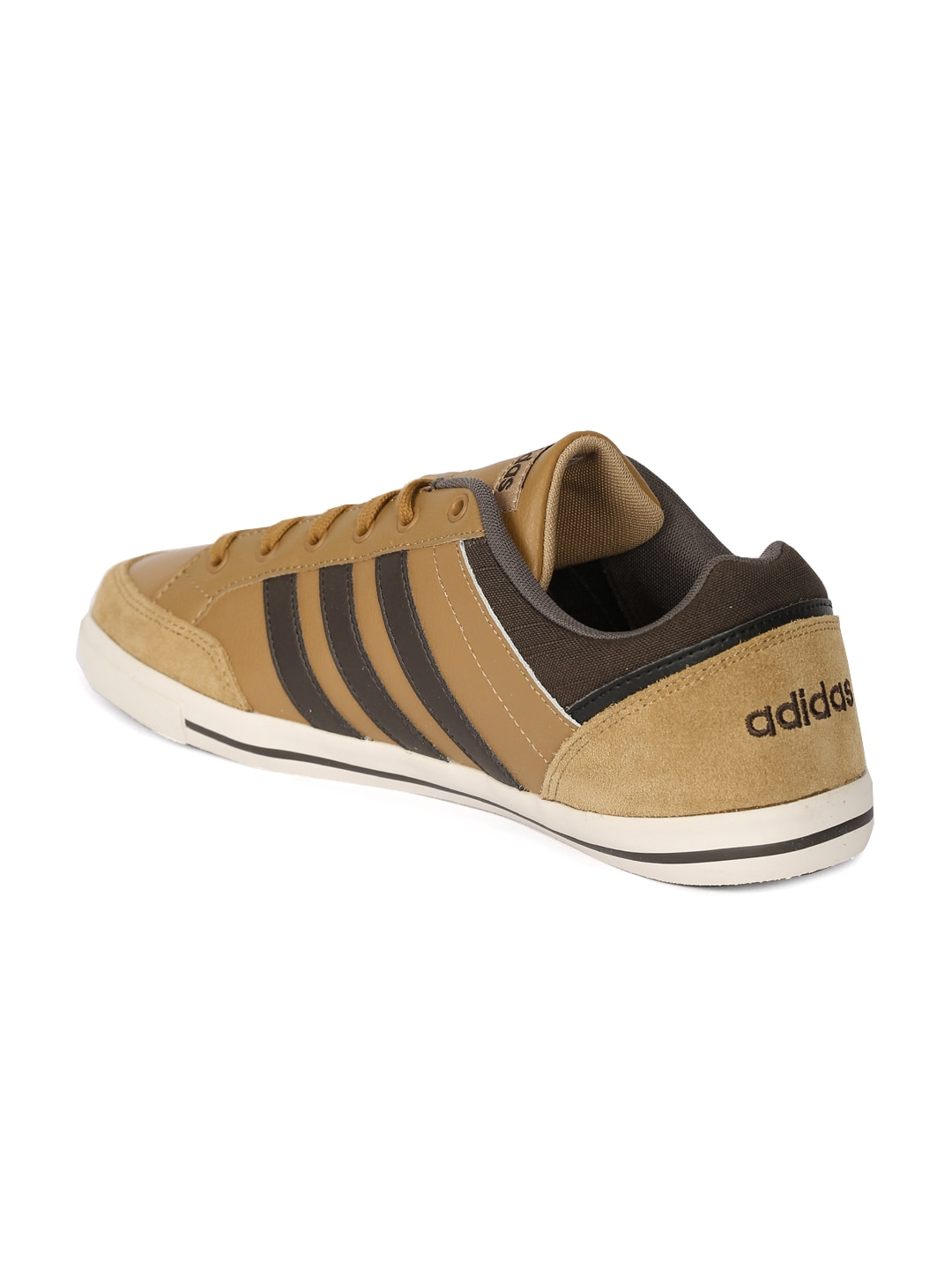 adidas neo leather brown