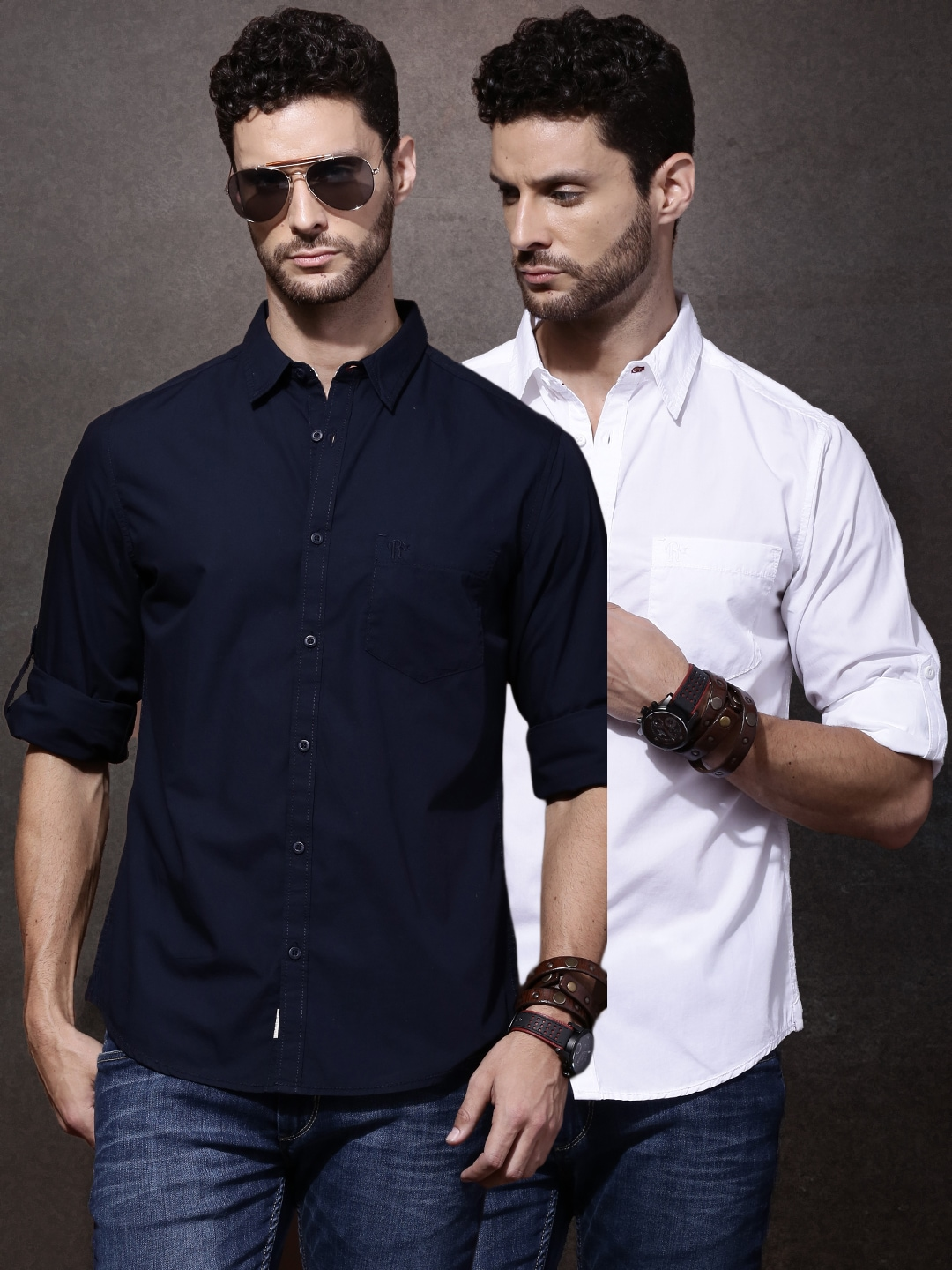 Roadster Men Pack of 2 Casual Shirts